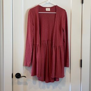 Coral cardigan - from Anthropologie